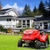 40 草のキャッチャーが付いている乗車の芝刈機