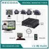 Cartão duplo DVR móvel do SD com monitoração tempo real móvel de Ahd 720p DVR 3G 4G WiFi GPS para o táxi do barramento