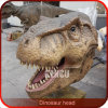 Supports élevés de mur de tête de dinosaur de simulation de cour de jeu extérieure