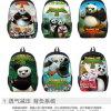 新しい学生のKung Fuのパンダのバックパックのランドセル学生は卸しでカスタマイズした