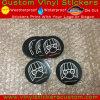Etiqueta engomada brillante auta-adhesivo del vinilo del círculo de Matt de la marca de fábrica de encargo de la promoción Stone-019