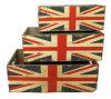 Цветочный горшок великобританского флага деревянный