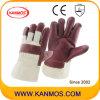 赤い家具の革靴の革産業手の安全作業手袋(310042)