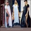 Платье самой последней стороны женщин конструкции сексуальной Split свободное длиннее (4159)