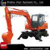 Excavador hidráulico competitivo de la rueda del precio XCMG Xe210W