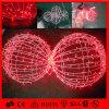 Lumière rouge décorative extérieure de boule de Noël de motif de LED