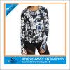 T-shirt de Dri Fit Running das mulheres com Sublimated Sportswear