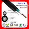 Câble optique aérien Gyxtc8s de la fibre G652D/Om3 du faisceau Fig8 du HDPE 36