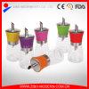 Dispensador de açúcar de vidro com tampão de plástico colorido
