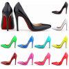 Signora inferiore rossa Footwear degli alti talloni dei pattini delle donne