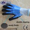 Перчатка работы безопасности масла польностью двойной окунать Nmsafety упорная