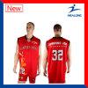 Baloncesto reversible modificado para requisitos particulares Jersey de la sublimación con alta calidad
