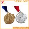 리본 (YB-LY-C-48)를 가진 2016의 3D에 의하여 돋을새김되는 금 주문 메달