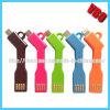 Bewegliches Keychain Aufladeeinheit USB-Kabel für Samsung-Galaxie