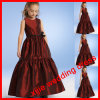 Blumen-Mädchen kleidet Sleeveless junge Brautjunfer-/Kind-Kleider