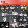 도매 금속 애인 선전용 새겨진 쓰는 한 쌍 열쇠 고리 (MLW-050514-235)