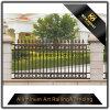 Cerca de aluminio decorativa revestida del jardín del metal del polvo para la seguridad
