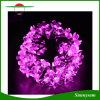 Solar impermeable al aire libre accionado 20/30/flor del melocotón de la cadena de 50 LED enciende la luz decorativa para la boda de la celebración de días festivos de la Navidad del jardín
