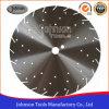 el diamante de 330-340m m vio el disco de acero de la lámina con los orificios decorativos