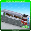Riparo esterno personalizzato della fermata dell'autobus della casella chiara delle strisce della struttura d'acciaio LED