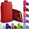 주머니 호리호리한 이동할 수 있는 셀룰라 전화 방어적인 풀 탭 소매를 위한 가죽 상자 덮개