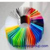 Impression sur l'acrylique coloré incassable à haute brillance 5mm de panneau de perspex