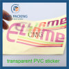 Plástico transparente etiqueta impressa personalizada (CMG-STR-002)