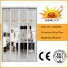 Нутряной алюминиевый сплав сползая дверь ванной комнаты (SC-AAD041)