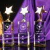 Premio di vetro giallo della stella del metallo del trofeo della stella per il ricordo