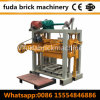 焼跡のフリーブロック機械/手はブロック機械を作動させる