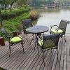 De Eettafel van de Reeksen van het Meubilair van de tuin 5PCS en de Stoel Gegoten Reeks van de Tuin van het Aluminium