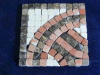 Stone de mármol Border Mosaic con Square Shaped (5844)