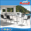 Stainless Steel Dining Table와 Chairs를 가진 기절시키기 정원 Furniture Set