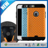 Multihole doble capa de alta cubierta Defensor de impacto para iPhone 6