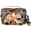 Kundenspezifisches Travel Satin Toiletry Toilet Cosmetic Bag mit Coin Purse