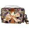 Cetim feito sob encomenda Toiletry Toilet Cosmetic Bag de Travel com Coin Purse