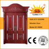 Moderna Escalera de seguridad Puerta de madera de teca para Home Designs (SC-W089)