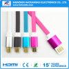 Cable micro del cargador de la sinc. de los datos del USB de la TPE de la tela trenzada de la calidad para I5/I6