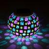 Indicatore luminoso solare cambiante della Tabella del vaso del mosaico di colore di vetro Rainproof