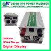 2000W UPS Charger Modified Power Inverter com USB & Digital Display