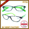 R709 Fancy Design Cheap Plastic Frames Reading Glasses com Spring Hinge