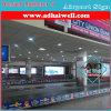 Casella chiara di media di pubblicità dell'aeroporto