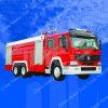 De Vrachtwagen van de Brandbestrijding van de Tank van het Water van Sinotruk HOWO 1620cbm