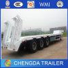 중국 최신 판매 3 차축 낮은 침대 트럭 트레일러