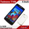 teléfono celular elegante de la ROM 16GB de 5inch Android4.2 (TWINOVO T109)