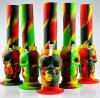 Forme du crâne Ghost Percolator Silicone Oilrig Verre à fumer Tubes d'eau