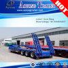 Trois lignes Six essieux 14m Heavy Duty Low Bed plat Semi-remorque
