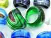 Серебр-Пыль, картина цвета внутри кольца Lampwork стеклянного (NR0054)