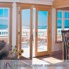 Porte en verre en aluminium de bonne qualité et porte de tissu pour rideaux
