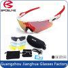 5 sports protecteurs confortables réglés interchangeables de l'ajustement UV400 de lentille faisant un cycle la lunetterie